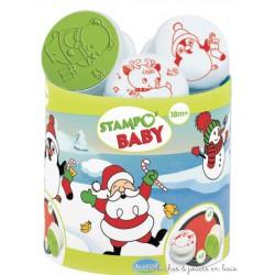 stampo baby Noel 5 tampons + encreur