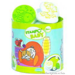 "Stampo baby "" animaux familiers 5 tampons + 1 encreur"