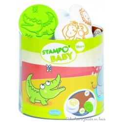 stampo baby Animaux de la savane 5 tampons + encreur