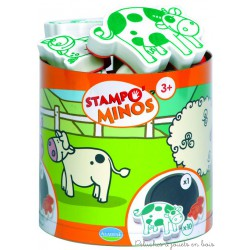 Stampo Minos Ferme 10 tampons + encreur