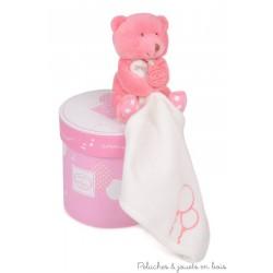 Boîte musicale vol au vent et ours rose