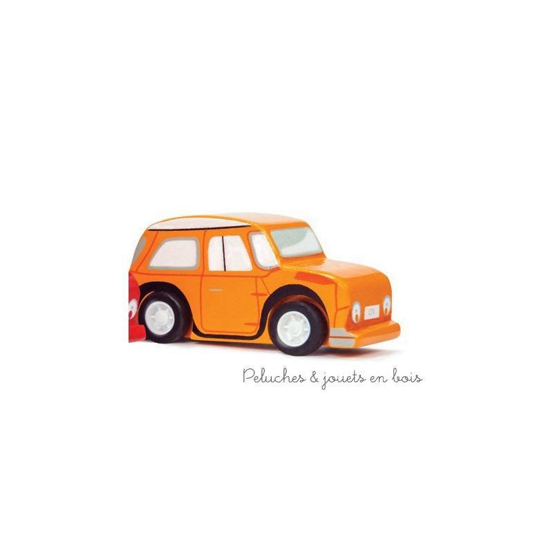 le toy van voiture propulsion orange peluches et jouets en bois. Black Bedroom Furniture Sets. Home Design Ideas