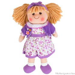 Poupée de chiffon Laura 30 cm collection vetement et poupées Bigjigs