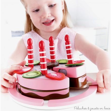 Gâteau d'Anniversaire Fraise Chocolat Hape