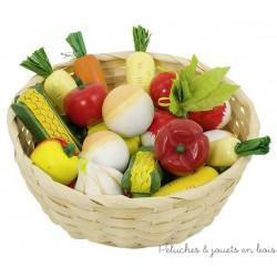 Corbeille de légumes en bois