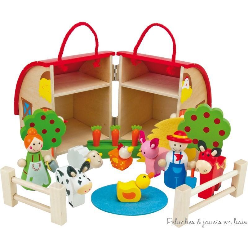 bigjigs la petite ferme en bois peluches et jouets en bois. Black Bedroom Furniture Sets. Home Design Ideas