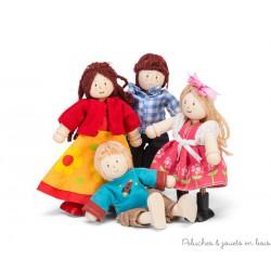 Le Toy Van, famille de 4 poupées habillées moderne