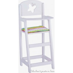 Goki chaise haute en bois pour poupée avec garniture Susibelle