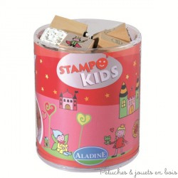 stampo kids 6 ans fées 15 tampons + encreur