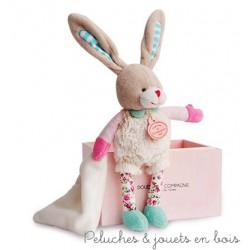 Doudou et compagnie, Choupidoudou Petit Lapin avec doudou et attache sucette