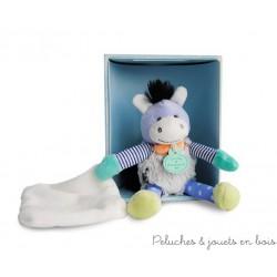 Doudou et compagnie, Choupidoudou Petit Ane avec doudou et attache sucette