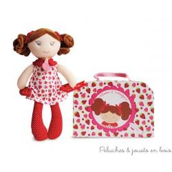 Doudou et Compagnie, Demoiselle Brin de Folie Fraisine 28 cm