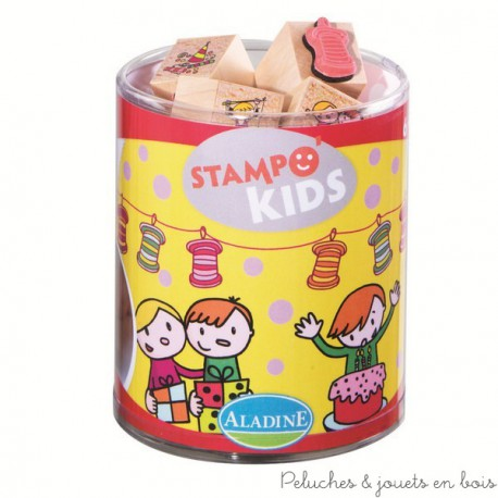 stampo kids 6 ans anniversaire 15 tampons + encreur