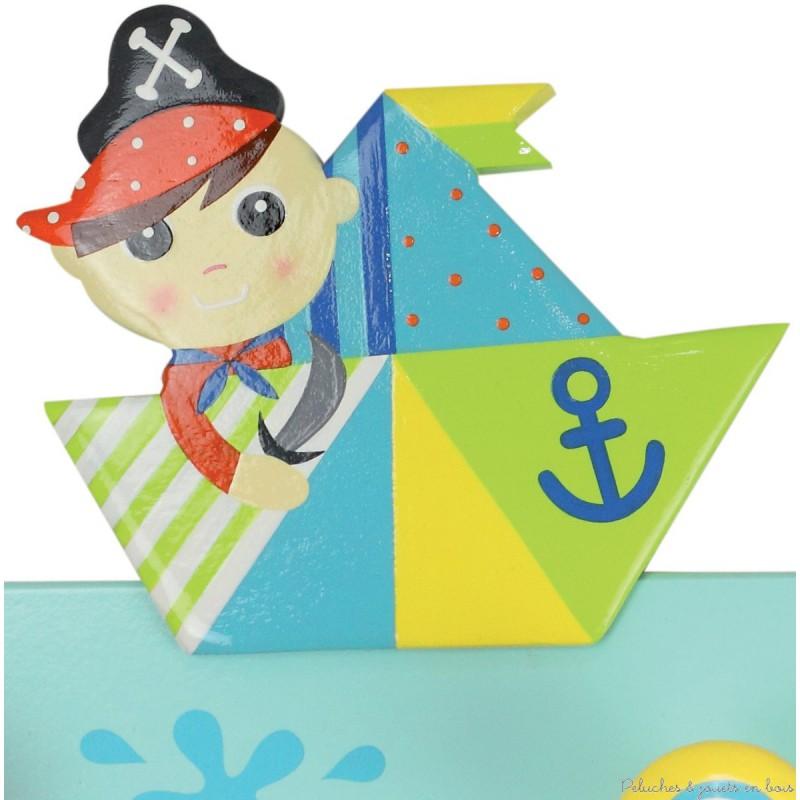 Toise couleur thème pirate  Peluches et jouets en bois