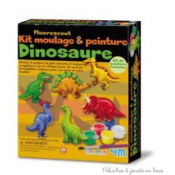 Kit de moulage à peindre Dinosaures fluorescents 4M