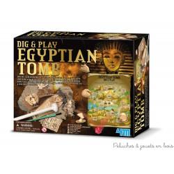 Déterre ton tombeau Egyptien avec un jeu de découverte 4M Kidzlabs