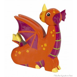 Le Coin des Enfants, Figurine en bois peint Le Dragon Orange