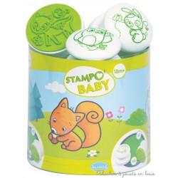 Aladine Stampo Baby Animaux de la forêt 5 tampons + encreur 03815
