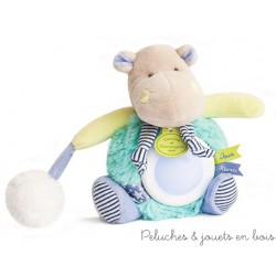 Doudou et Compagnie, Doudou Veilleuse Lovely hipopotame Pistache