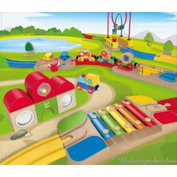 Coffret de train musical fermé Hape E3816