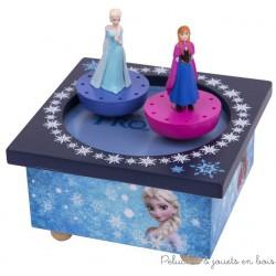 Trousselier Manège musical bois Elsa et Ana - La Reine des Neiges