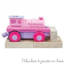 Locomotive électrique rose à piles Fées