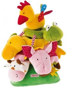 Empilable pour bébé : jouet d'éveil en tissu