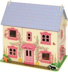 La maison de poupées en bois est un jouet idéal pour permettre à votre enfant de « jouer à la famille » !