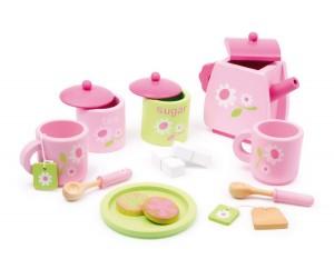 service à thé et dinette en bois, un jouet d'imitation par excellence !
