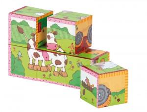 Un puzzle  cube ferme, six combinaisons. Ce joyeux puzzle sous forme de cube permet de réaliser six motifs différents en bois et d'entrainer non seulement la patience et la concentration mais aussi la coordination et l'habileté. Taille 15 x 10 cm