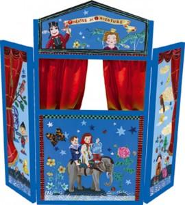 Théâtre de marionnettes dessiné par Nathalie Lété pour Vilac
