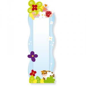 miroir Grand modèle sur le thème de la ferme de la marque Le coin des enfants
