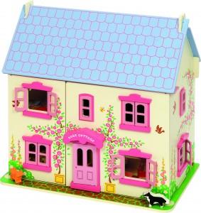 Rose Cottage une maison de poupée en bois de la marque Bigjigs