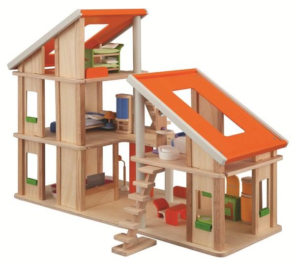 La Maison chalet meublée de la marque Plantoys