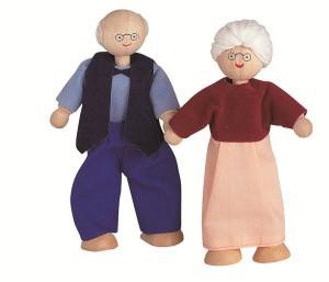 Grand-Pére et Grand-Mère : de superbes poupées articulées pour animer les maisons de poupées signées Plantoys