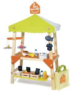 Le Grand marché, jouet en bois de chez House of Toys, pour jouer à la marchande