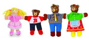 Blandine et les trois ours...raconté aux enfants dès leur plus jeune âge avec ces marionnettes à doigt signées Fiesta craft