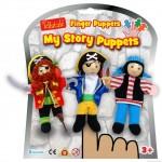 3 marionnettes de doigt pirates