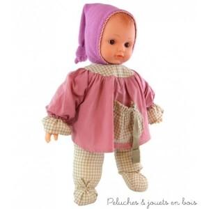 """Le bébé Léo Ecolo Doll """"Pitchounette"""" est un premier bébé en vinyle très souple et en coton biologique fabriqué en Europe par la marque Petitcollin. A partir de 10 mois+"""