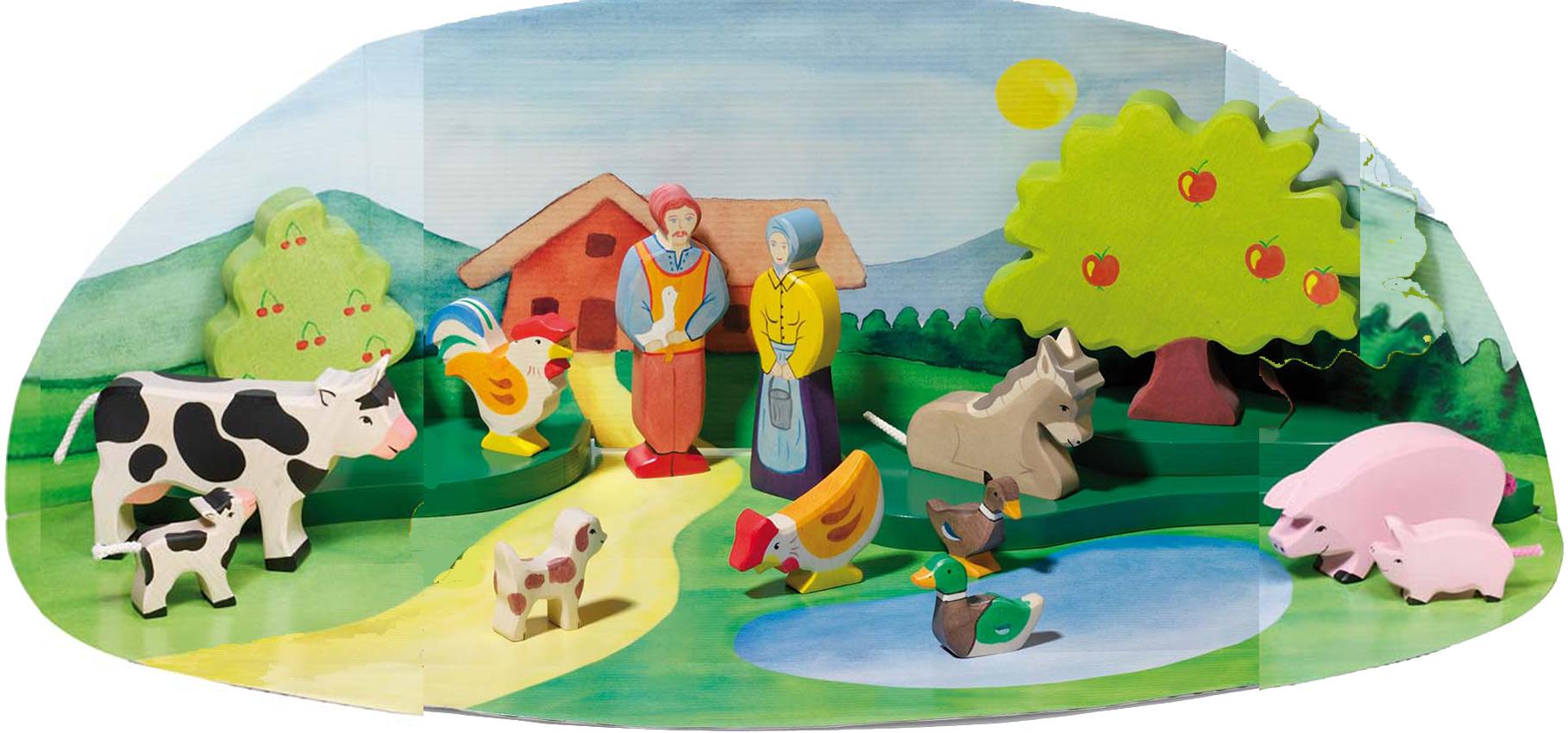 Une idée de cadeau anniversaire : les jouets en bois & animaux de la ferme  Holztiger
