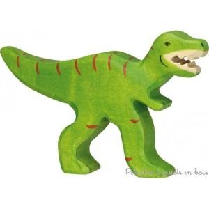 Le tyrannosaure Holztiger Taille 10 x 2,3 x 13 cm. Les figurines Holztiger sont en bois, fabriquées en Europe et peintes à la main avec des peintures à base d'eau garanties non toxiques. Pour 3 ans+