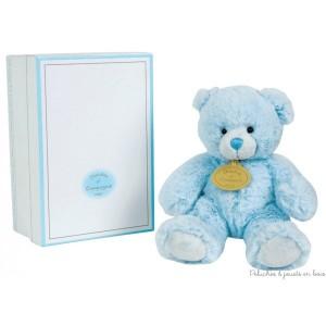 Cette Boite à Musique Ours Bleu est de la marque Doudou & Compagnie Dimensions : 15 cm.