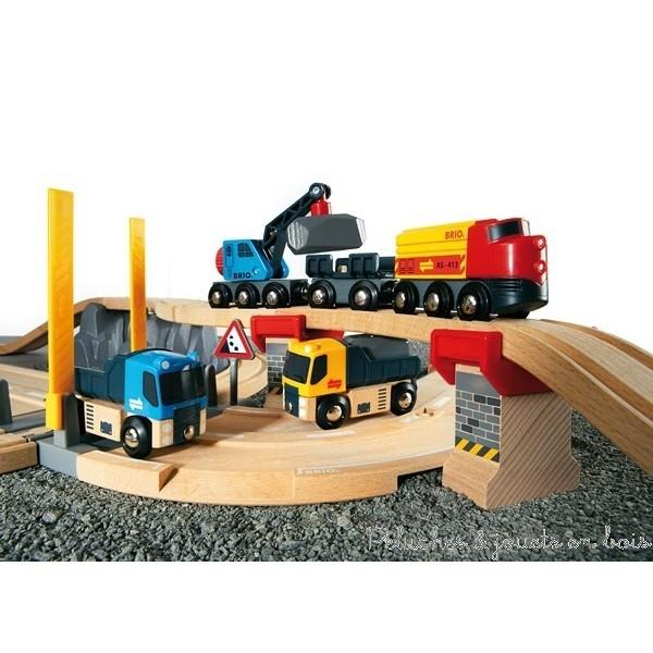 Le circuit Rail Route de transport de roches comprend 32 pièces;