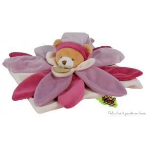 Doudou Collector Fleur rose Tatoo est de la marque Doudou & Compagnie Dimensions : 30 cm.