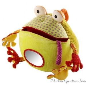 Roméo le crapaud mange-tout de la marque Lilliputiens contient 5 éléments dont un crapaud, un miroir, une petite pieuvre, un petit crabe, un petit poisson et un petite mouche. A partir de 6m+