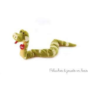Le serpent robert en peluche de la collection Trudi Classique et exotique. Dimensions 80 cm en matériaux souples et de qualité supérieure.
