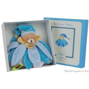 Doudou Collector Fleur bleu Tatoo est de la marque Doudou & Compagnie Dimensions : 30 cm.
