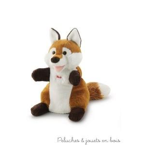 Une marionnette renard à laquelle on donne vie simplement avec ses mains. Ce personnage drôle et sympathique est prêt à donner sa voix à l'imagination des enfants ou de leurs parents en racontant histoires, fables et comptines. Cette marionnette espiègle est aussi comme une peluche douillette à câliner et à emporter toujours avec soi. Taille 25 cm