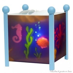 """Lanterne magique de Trousselier sur le thème """"mer"""" de couleur bleu. A partir de 0m+"""