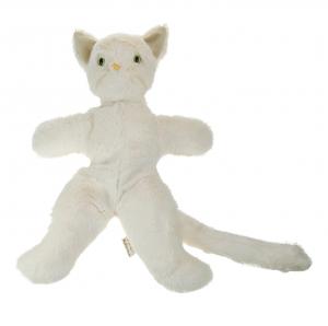 Chat Ralphy écru 33 cm, de la marque Les petites Marie; fabriqué en France
